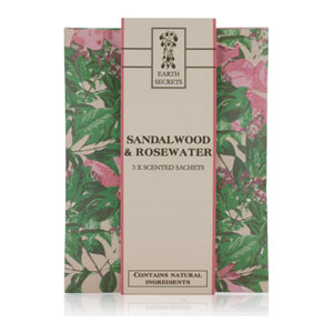 Earth Secrets - Scented Sachets - Sandalwood & Rosewater