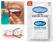 Active Oral Care - Mint Waxed Dental Floss