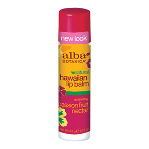 Alba Botanica - Hawaiian Lip Balm - Renewing Passion Fruit Nectar
