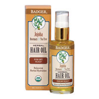 Badger - Jojoba, Rosemary & Tea Tree Herbal Hair Oil