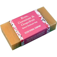 Celtic Herbal - Rose, Geranium & Grapefruit Soap