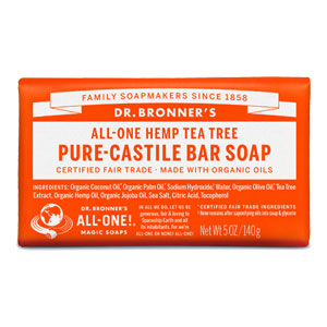 Dr. Bronner's - All-One Hemp Pure-Castile Bar Soap - Tea Tree