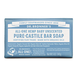 Dr. Bronner's - All-One Hemp Baby Pure-Castile Bar Soap - Unscented