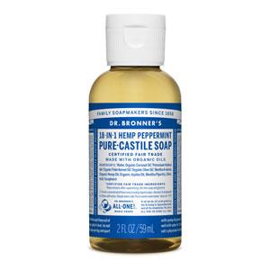 Hemp peppermint pure castile soap