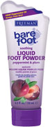 Freeman Bare Foot - Peppermint & Plum Soothing Liquid Foot Powder