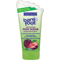 Freeman Bare Foot - Peppermint & Plum Self-Warming Foot Scrub