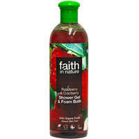 Faith In Nature - Raspberry & Cranberry Shower Gel & Foam Bath