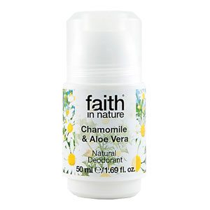 Faith In Nature - Roll-On Crystal Deodorant - Aloe Vera & Chamomile