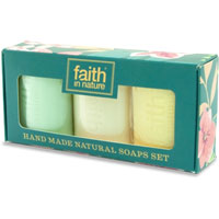 Faith In Nature - Hand Made Natural Soaps Set