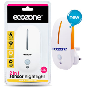 Ecozone - 2 in 1 Sensor Nightlight