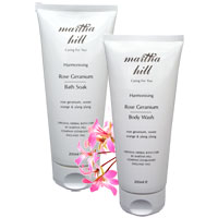 Martha Hill - Harmonising Rose Geranium Bath Duo