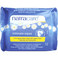 Natracare - Organic Cotton Intimate Wipes