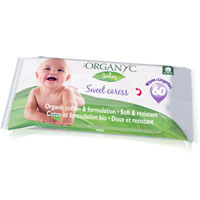 Organyc - Sweet Caress Organic Cotton Baby Wipes