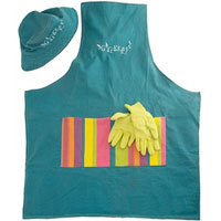 Opal London - Garden Apron, Hat & Glove Set - Adult (Red)