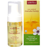 Wild Ferns New Zealand Manuka Honey - Manuka Honey Foaming Facial Wash