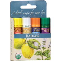 Badger - Classic Lip Balm Gift Pack - Set 1 (Blue)